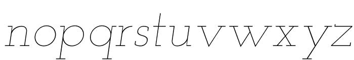 Josefin Slab Thin Italic Font LOWERCASE