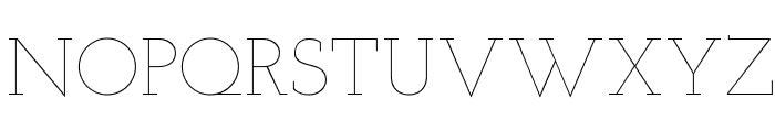 Josefin Slab Thin Font UPPERCASE