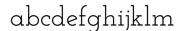Josefin Slab Font LOWERCASE