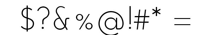 JosefinSansStd-Light Font OTHER CHARS
