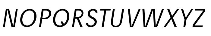 Josefreduced-LightItalic Font UPPERCASE
