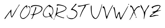 Josh_Script Font UPPERCASE