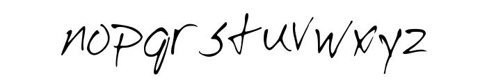 Josh_Script Font LOWERCASE