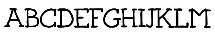 Josschrift Serif Font UPPERCASE