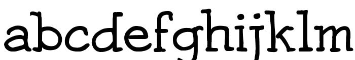 Josschrift Serif Font LOWERCASE