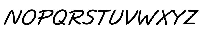 JottFLF-BoldItalic Font UPPERCASE