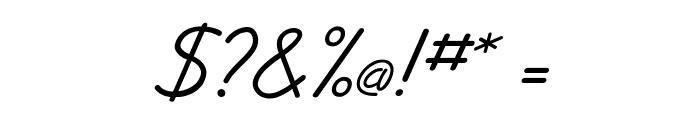JottFLF-Italic Font OTHER CHARS