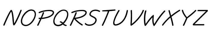 JottFLF-Italic Font UPPERCASE