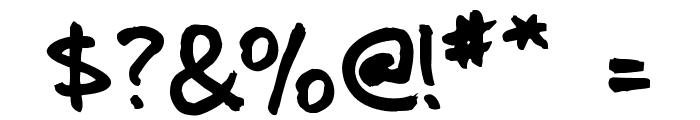 Jotterscript Font OTHER CHARS