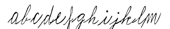 Journaling by Marta van Eck Italic Font LOWERCASE