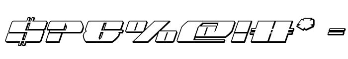 Joy Shark Outline Semi-ConItal Font OTHER CHARS