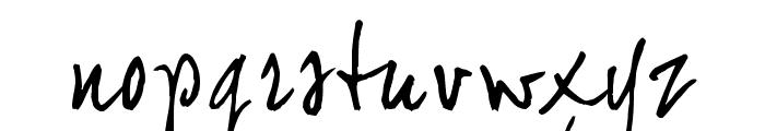 joeHand 2 Font LOWERCASE