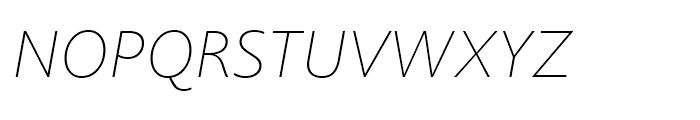 Joanna Sans Nova Thin Italic Font UPPERCASE