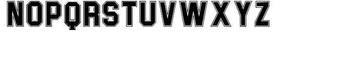 Joe College NF Sans Inline Font LOWERCASE