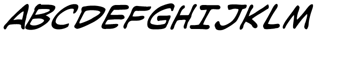 Joe Kubert Intl Italic Font UPPERCASE