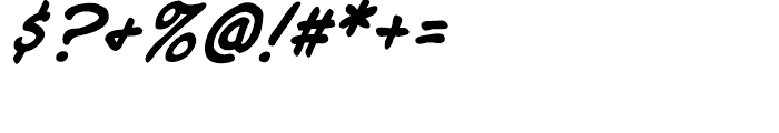 Joe Mad Intl Italic Font OTHER CHARS
