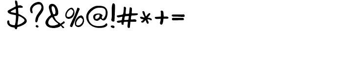 Joe Schmoe Regular Font OTHER CHARS