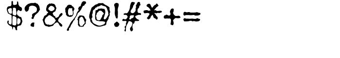 John Doe Regular Font OTHER CHARS