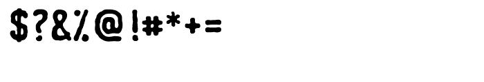 Johnstemp Bold Font OTHER CHARS