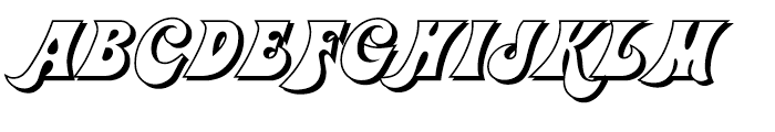 Jolly Roger Shadow Font UPPERCASE