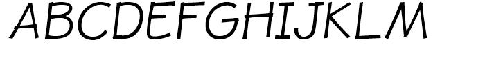 JollyGood Proper Light Italic Font UPPERCASE