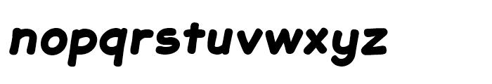 JollyGood Sans Black Italic Font LOWERCASE