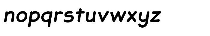 JollyGood Sans Bold Italic Font LOWERCASE