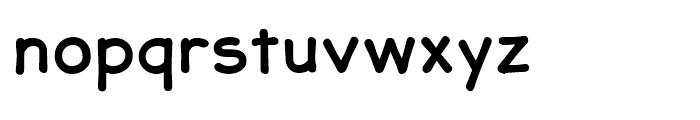 JollyGood Sans Bold Font LOWERCASE