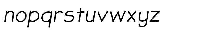JollyGood Sans Light Italic Font LOWERCASE