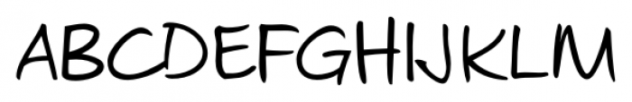 Josh Handwriting Regular Font UPPERCASE