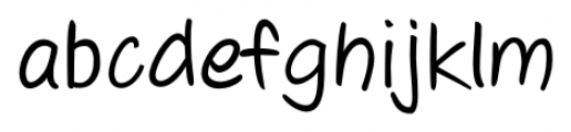 Josh Handwriting Regular Font LOWERCASE