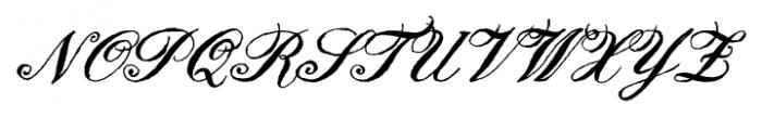 Joya English Script Font UPPERCASE