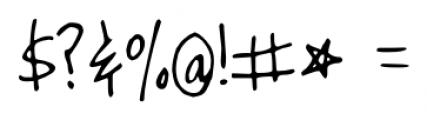 Joyful Juliana Pro Regular Font OTHER CHARS