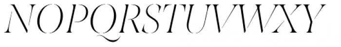 Joane Stencil Thin Italic Font UPPERCASE