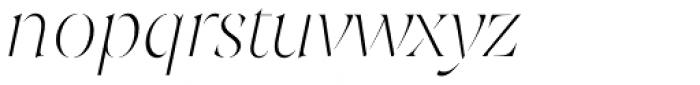 Joane Stencil Thin Italic Font LOWERCASE