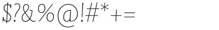 Joanna Nova Thin Italic Font OTHER CHARS