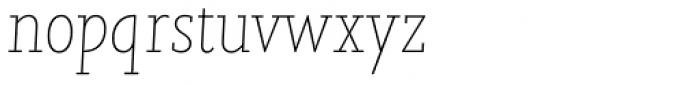 Joanna Nova Thin Italic Font LOWERCASE