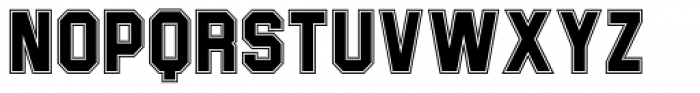 Joe College Sans Inline NF Font UPPERCASE