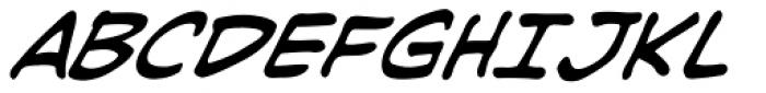 Joe Kubert Italic Font UPPERCASE