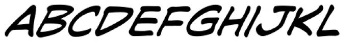 Joe Kubert Italic Font LOWERCASE