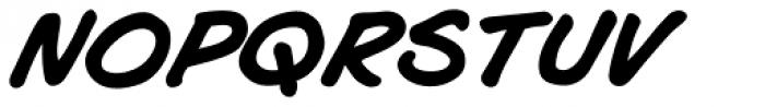 Joe Mad Bold Italic Font LOWERCASE