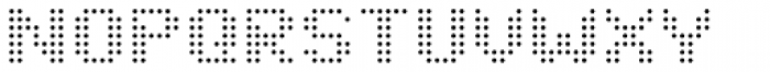 John LED7 Ultra Light Font UPPERCASE