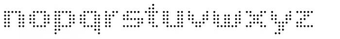John LED7 Ultra Light Font LOWERCASE