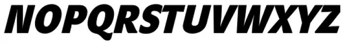 John Sans Cond Heavy Bold Italic Font UPPERCASE