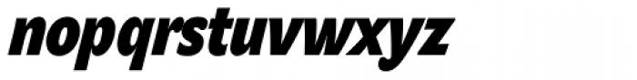 John Sans Cond Heavy Bold Italic Font LOWERCASE