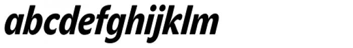 John Sans Cond Heavy Italic Font LOWERCASE