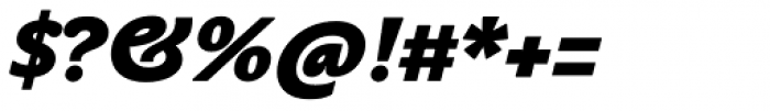 John Sans Heavy Bold Italic Font OTHER CHARS