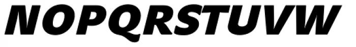 John Sans Heavy Bold Italic Font UPPERCASE