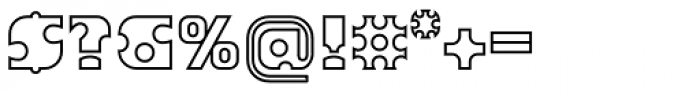 Joker Outline Font OTHER CHARS
