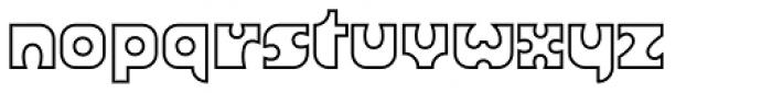 Joker Outline Font LOWERCASE